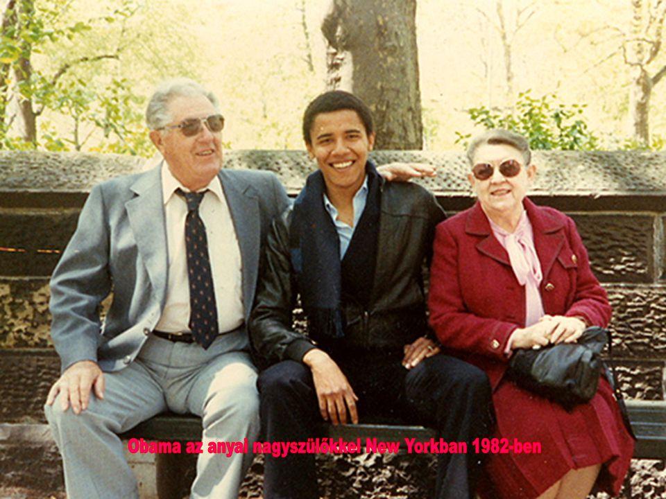 Obama az anyai nagyszülőkkel New Yorkban 1982-ben