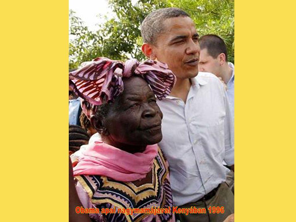 Obama apai nagymamájával Kenyában 1996
