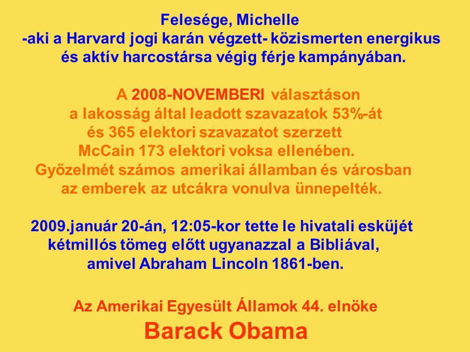Barack Obama Felesége, Michelle