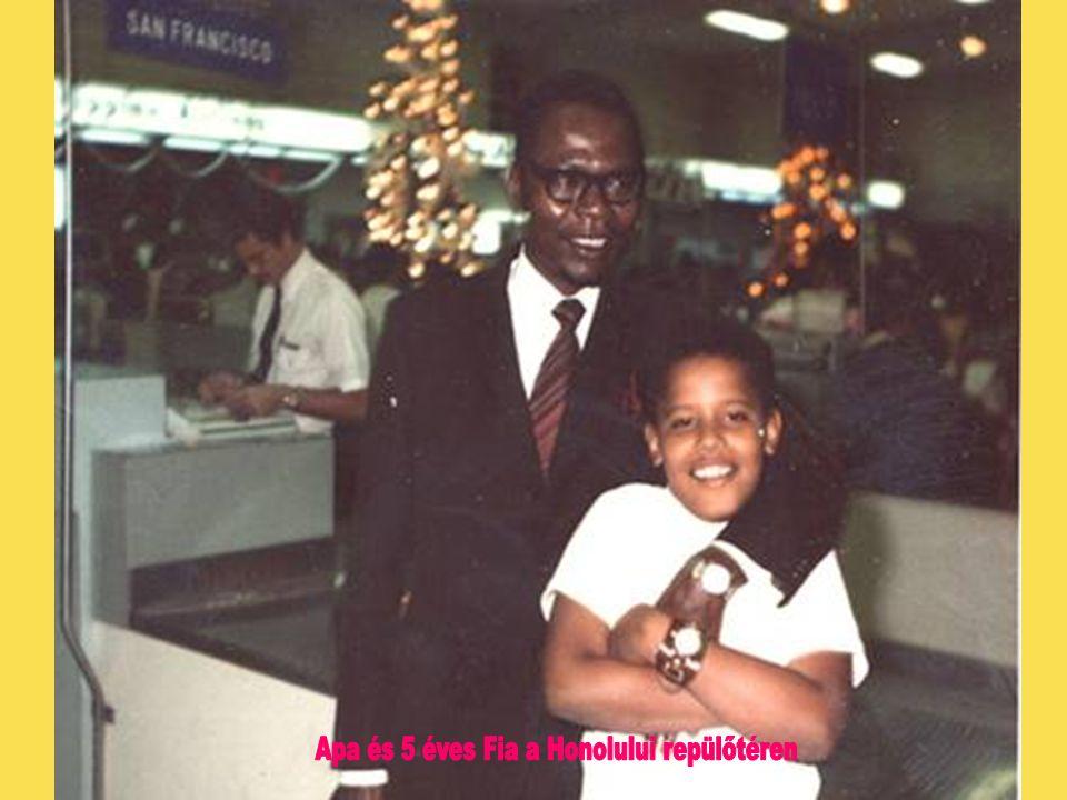 Apa és 5 éves Fia a Honolului repülőtéren