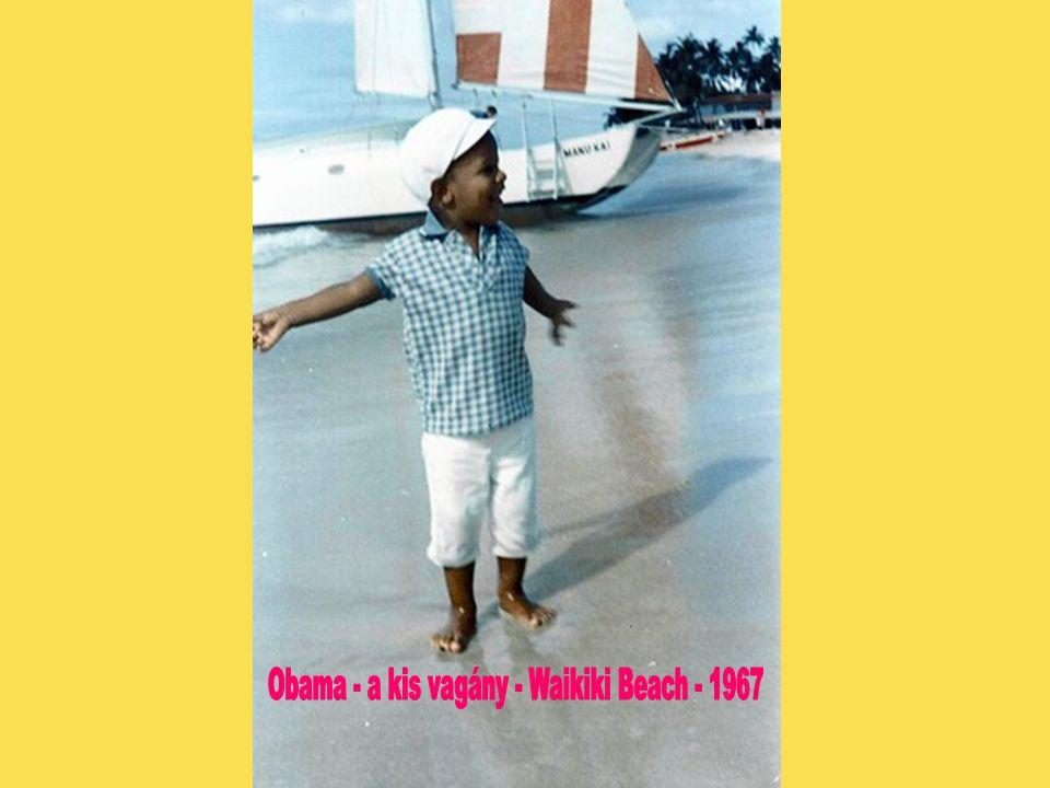 Obama - a kis vagány - Waikiki Beach - 1967