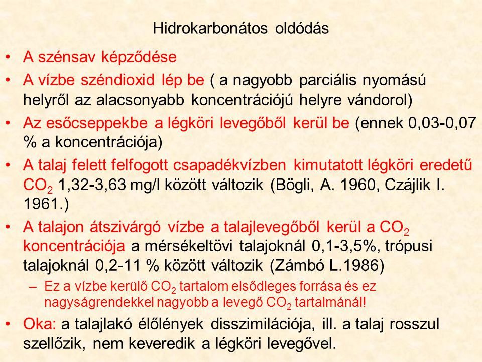 Hidrokarbonátos oldódás