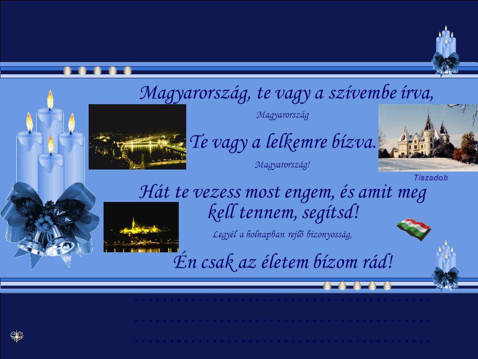 Magyarország, te vagy a szívembe írva, Te vagy a lelkemre bízva.