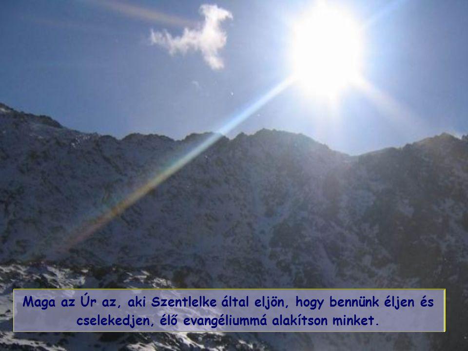 Maga az Úr az, aki Szentlelke által eljön, hogy bennünk éljen és cselekedjen, élő evangéliummá alakítson minket.