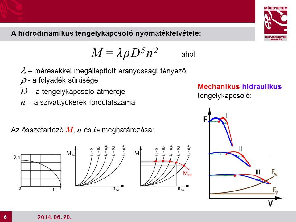 D – a tengelykapcsoló átmérője n – a szivattyúkerék fordulatszáma