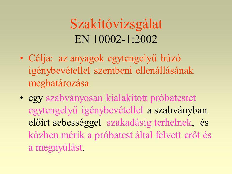 Szakítóvizsgálat EN 10002-1:2002