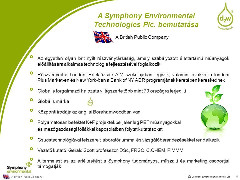 A Symphony Environmental Technologies Plc. bemutatása