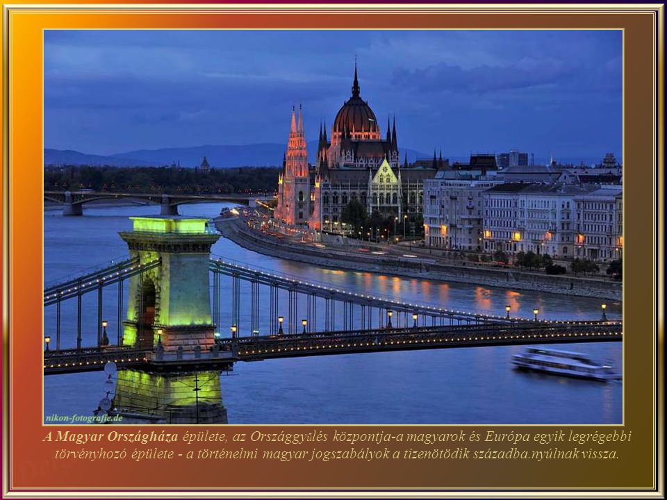 The Hungarian Parliament Building (Hungarian: Országház, which translates to The House of the Nation) is the seat of the National Assembly of Hungary, one of Europe s oldest legislative buildings. The history of the Hungarian legislative goes back to the 15th century.