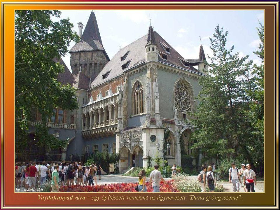 Vaydahunyad vára – egy építészeti remekmű az úgynevezett Duna gyöngyszeme .