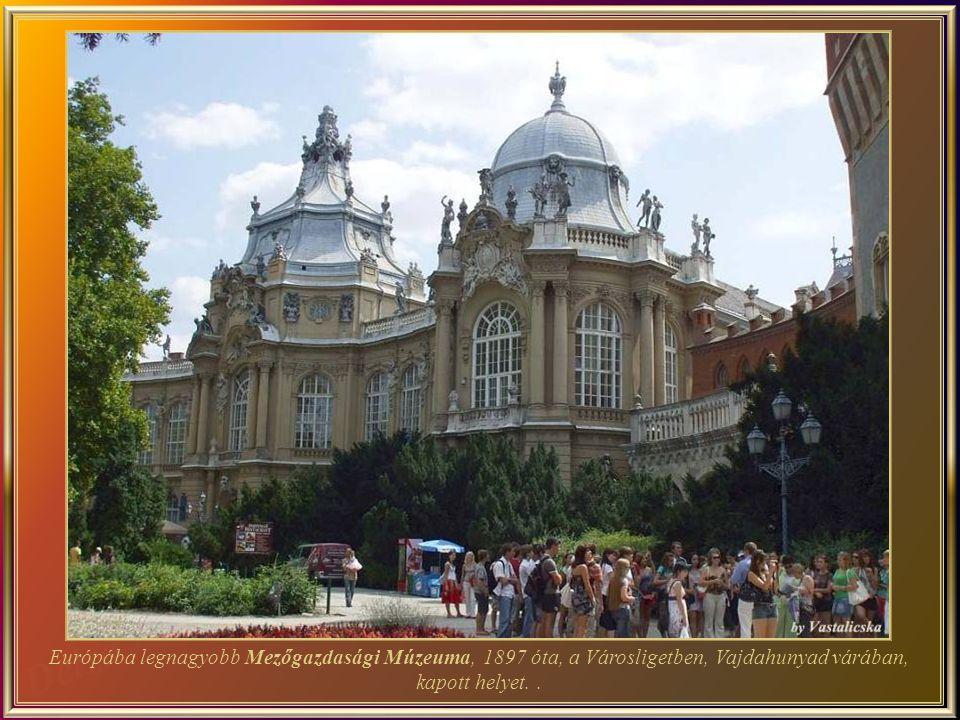 Európába legnagyobb Mezőgazdasági Múzeuma, 1897 óta, a Városligetben, Vajdahunyad várában, kapott helyet.