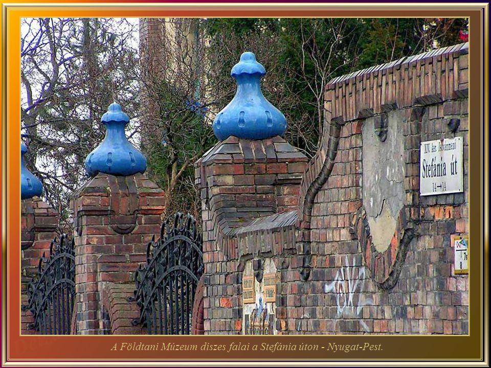 A Földtani Múzeum diszes falai a Stefánia úton - Nyugat-Pest.
