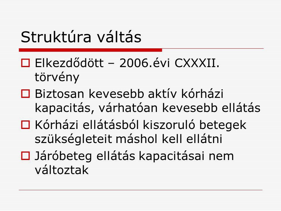 Struktúra váltás Elkezdődött – 2006.évi CXXXII. törvény