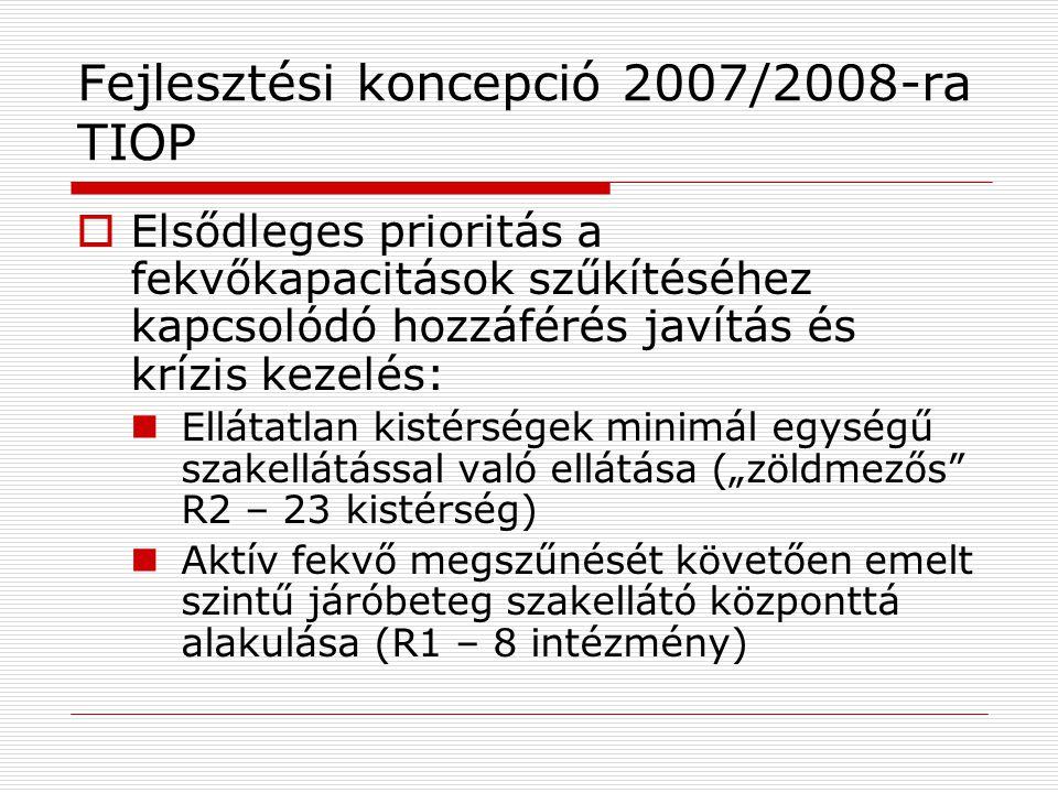 Fejlesztési koncepció 2007/2008-ra TIOP
