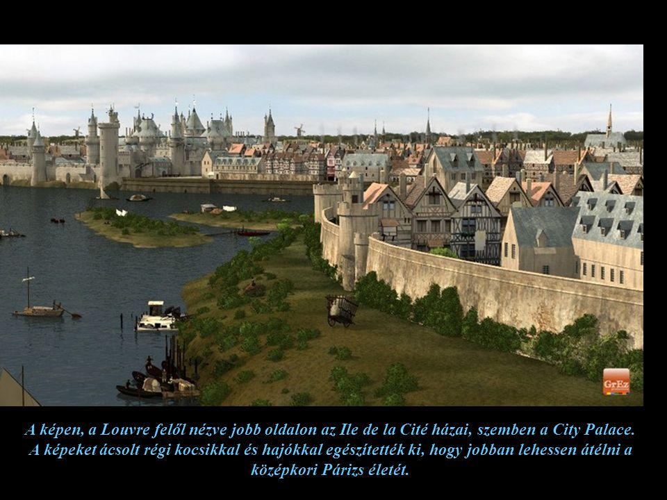 A képen, a Louvre felől nézve jobb oldalon az Ile de la Cité házai, szemben a City Palace.
