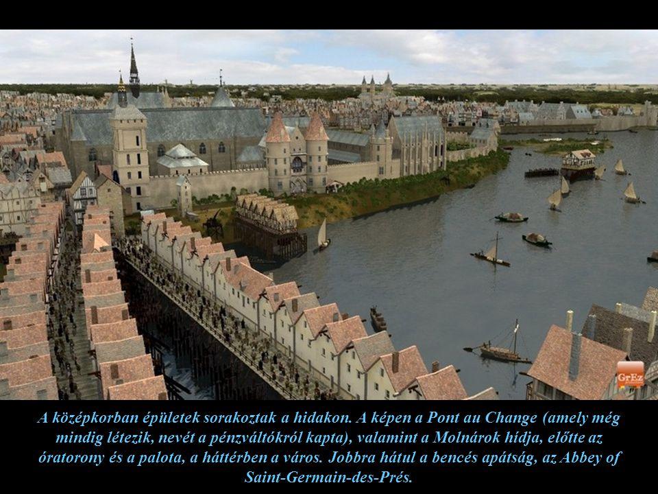 A középkorban épületek sorakoztak a hidakon