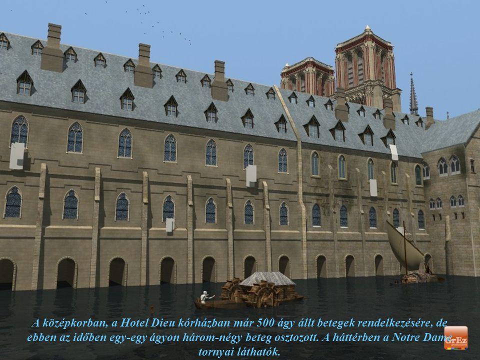 A középkorban, a Hotel Dieu kórházban már 500 ágy állt betegek rendelkezésére, de ebben az időben egy-egy ágyon három-négy beteg osztozott.