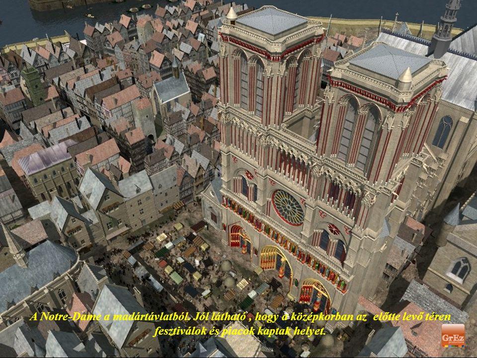 A Notre-Dame a madártávlatból