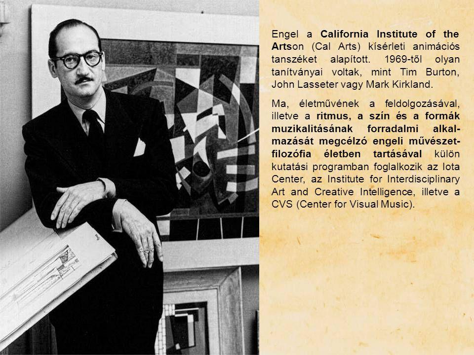 Engel a California Institute of the Artson (Cal Arts) kísérleti animációs tanszéket alapított. 1969-től olyan tanítványai voltak, mint Tim Burton, John Lasseter vagy Mark Kirkland.