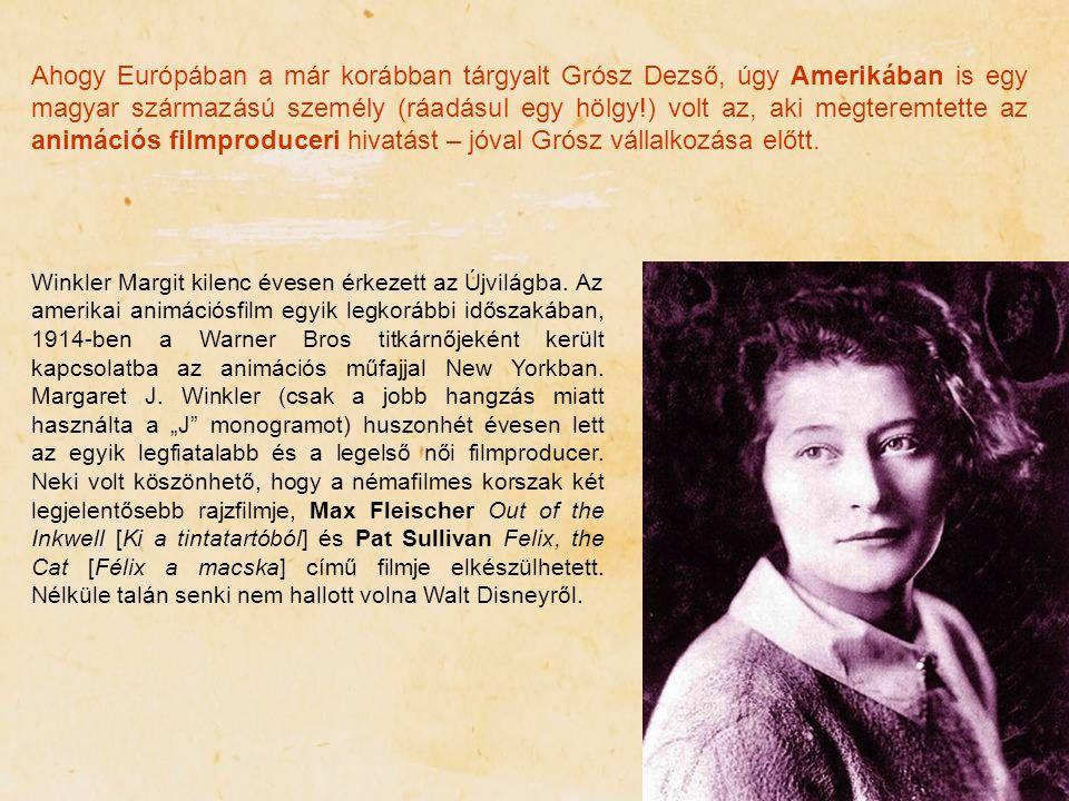 Ahogy Európában a már korábban tárgyalt Grósz Dezső, úgy Amerikában is egy magyar származású személy (ráadásul egy hölgy!) volt az, aki megteremtette az animációs filmproduceri hivatást – jóval Grósz vállalkozása előtt.