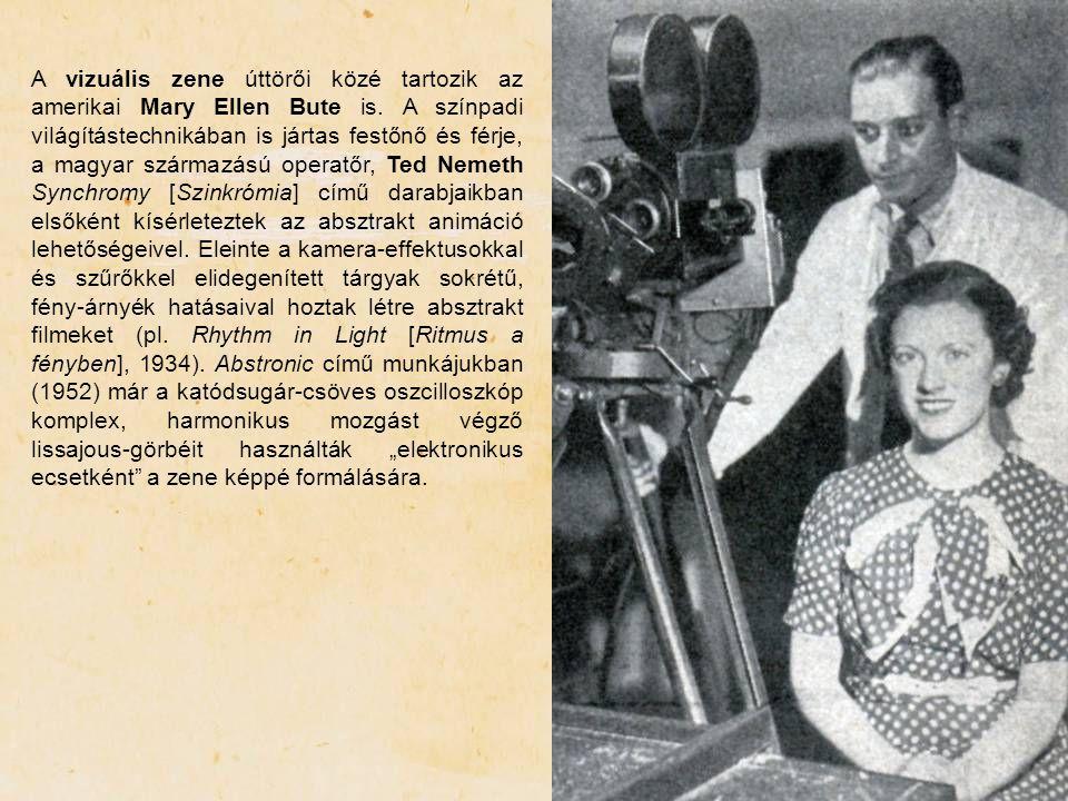 A vizuális zene úttörői közé tartozik az amerikai Mary Ellen Bute is