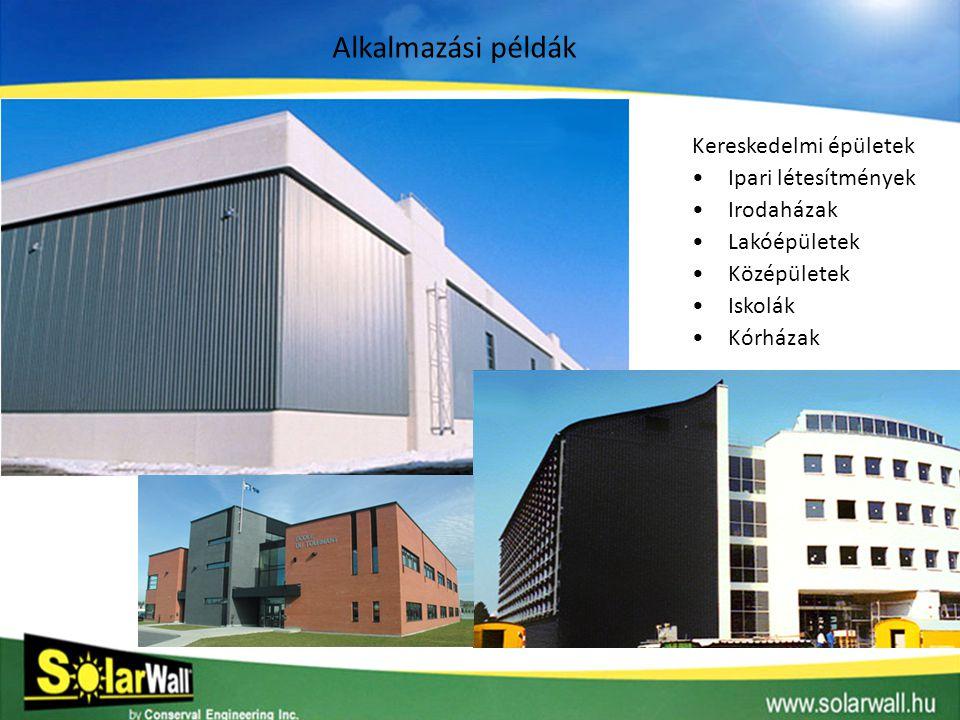 Alkalmazási példák Kereskedelmi épületek Ipari létesítmények