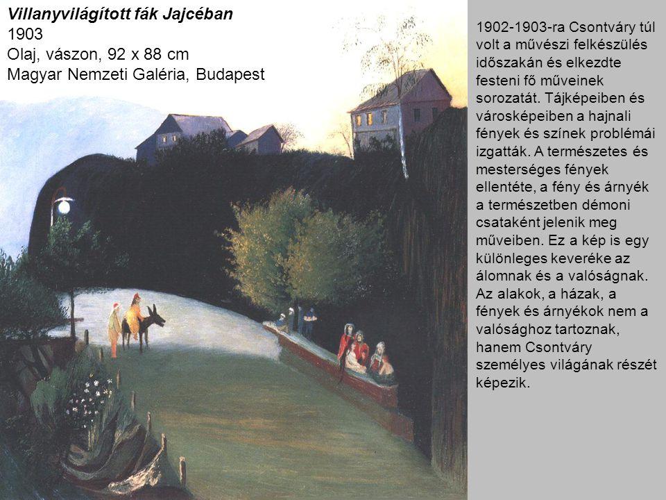 Villanyvilágított fák Jajcéban 1903 Olaj, vászon, 92 x 88 cm Magyar Nemzeti Galéria, Budapest