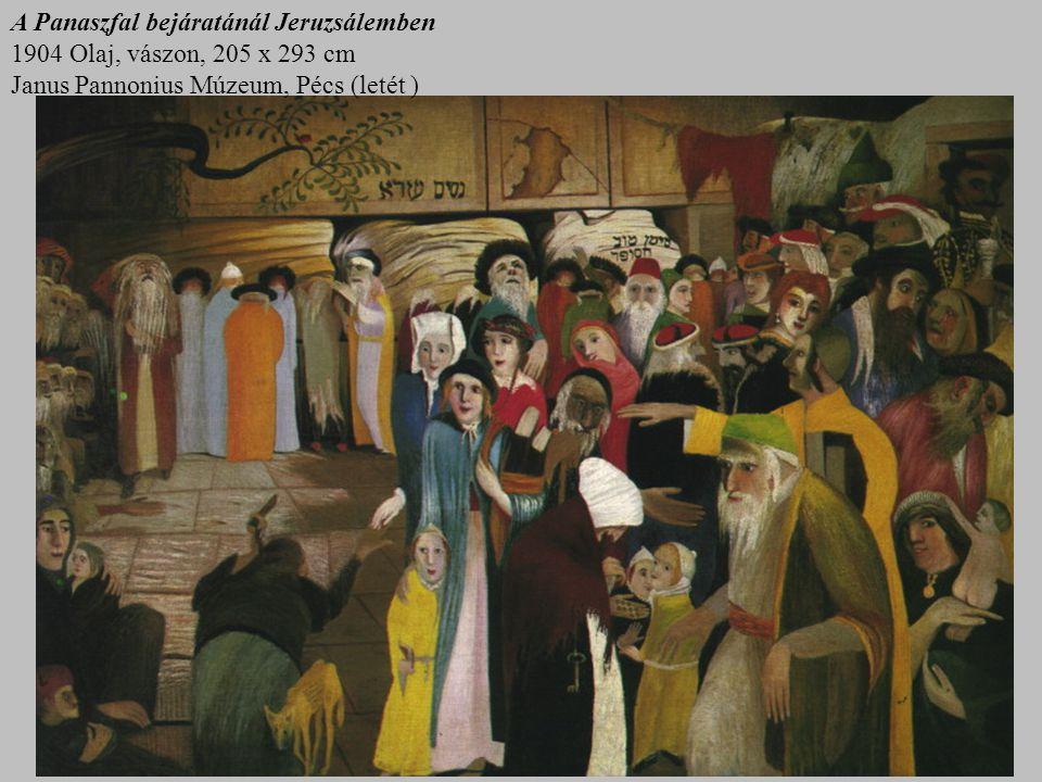 A Panaszfal bejáratánál Jeruzsálemben 1904 Olaj, vászon, 205 x 293 cm Janus Pannonius Múzeum, Pécs (letét )