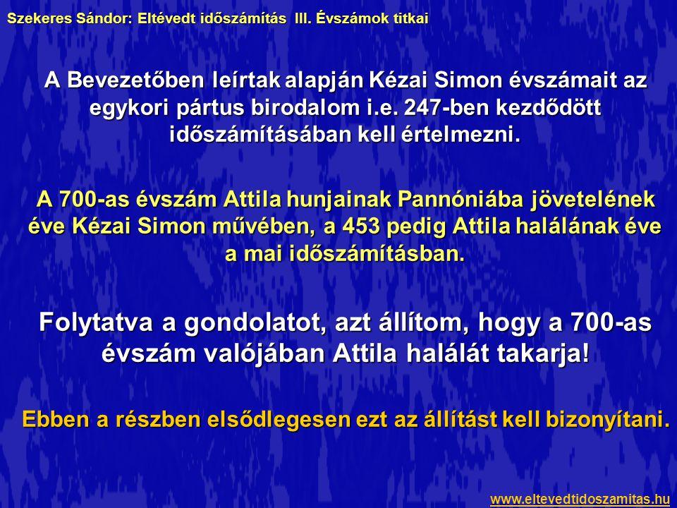 Szekeres Sándor: Eltévedt időszámítás III. Évszámok titkai