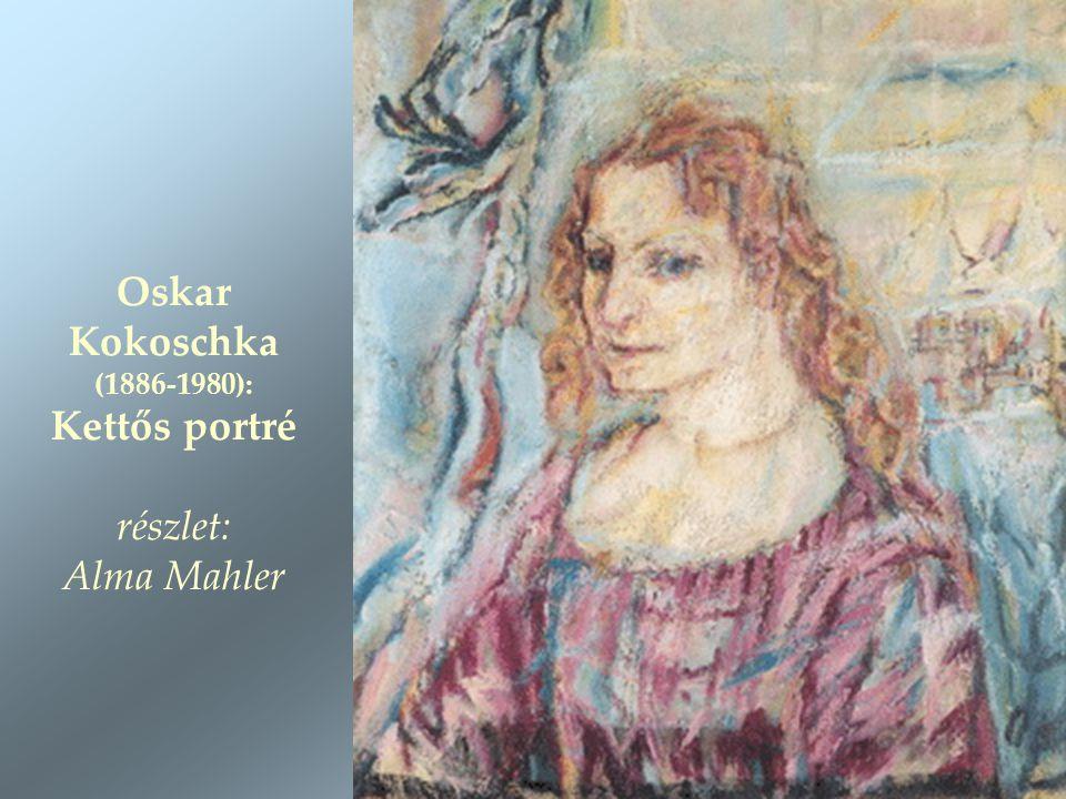 Oskar Kokoschka (1886-1980): Kettős portré részlet: Alma Mahler