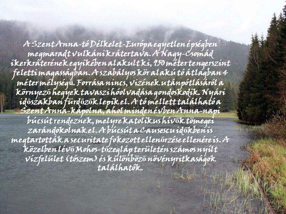 A Szent Anna-tó Délkelet-Európa egyetlen épségben megmaradt vulkáni krátertava.