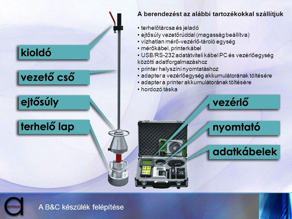 A B&C készülék felépítése