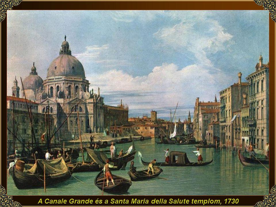 A Canale Grande és a Santa Maria della Salute templom, 1730