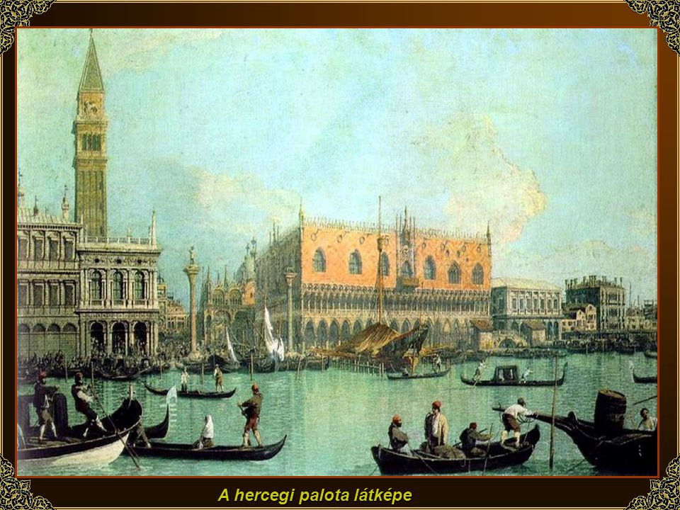 A hercegi palota látképe
