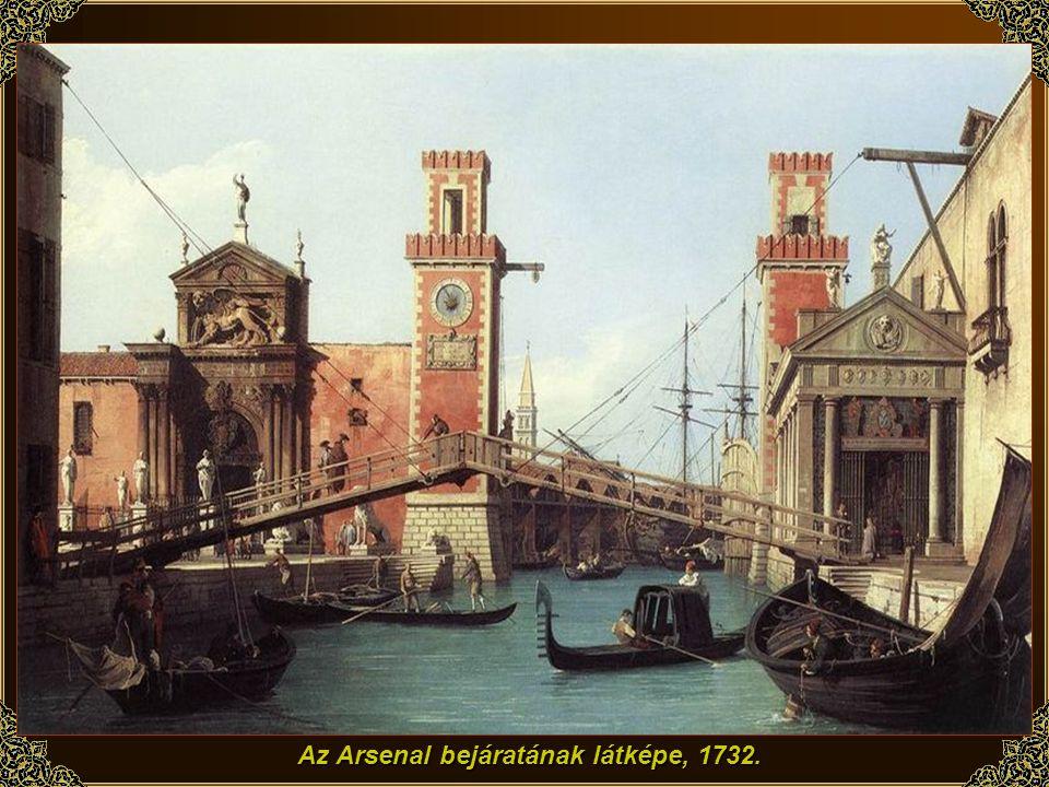 Az Arsenal bejáratának látképe, 1732.