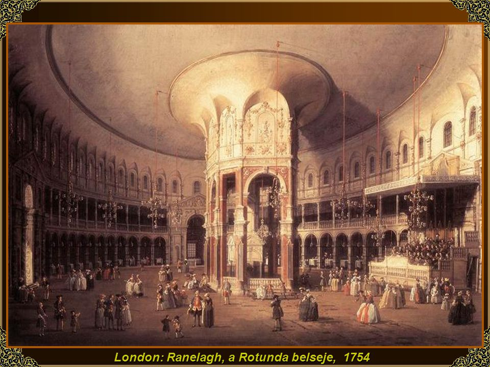 London: Ranelagh, a Rotunda belseje, 1754