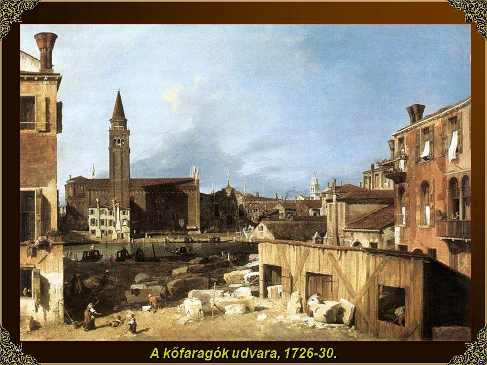 A kőfaragók udvara, 1726-30.