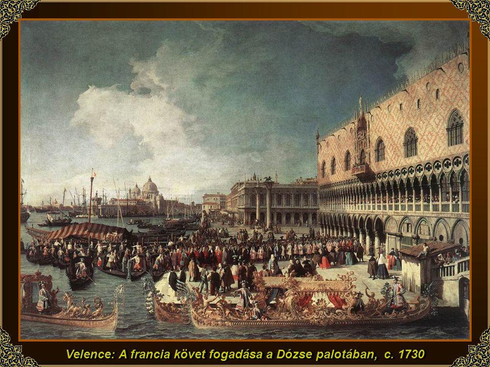Velence: A francia követ fogadása a Dózse palotában, c. 1730