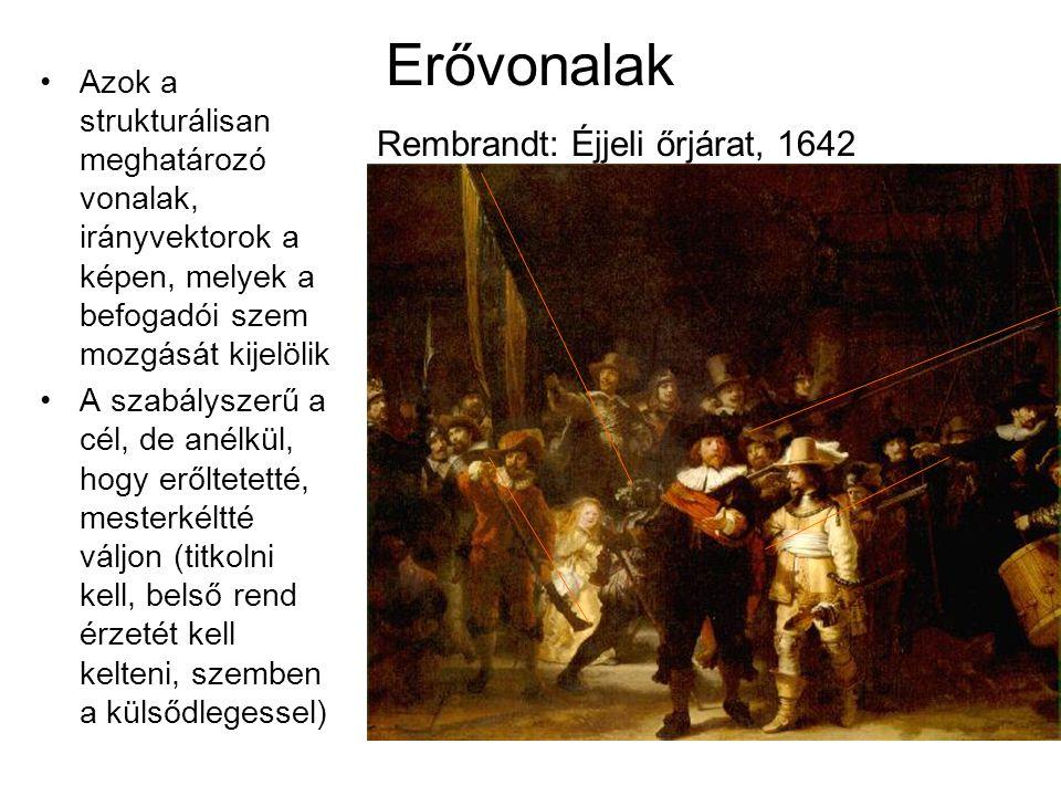 Erővonalak Rembrandt: Éjjeli őrjárat, 1642