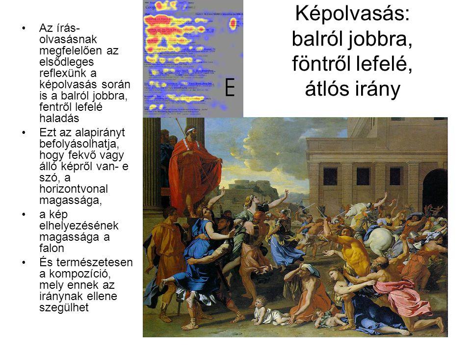 Képolvasás: balról jobbra, föntről lefelé, átlós irány