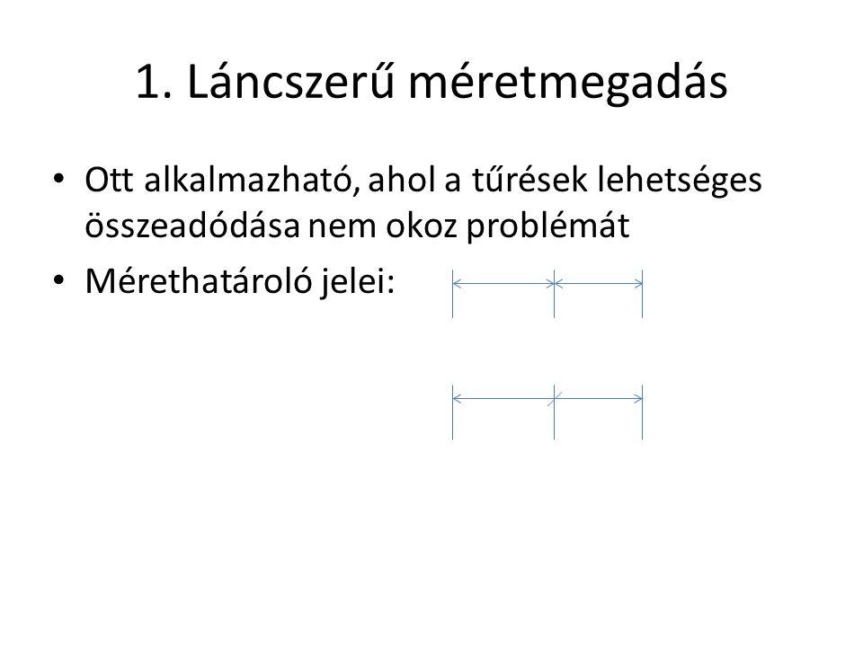 1. Láncszerű méretmegadás