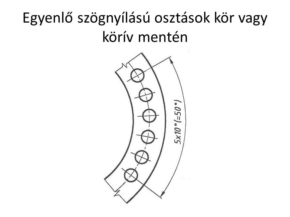 Egyenlő szögnyílású osztások kör vagy körív mentén