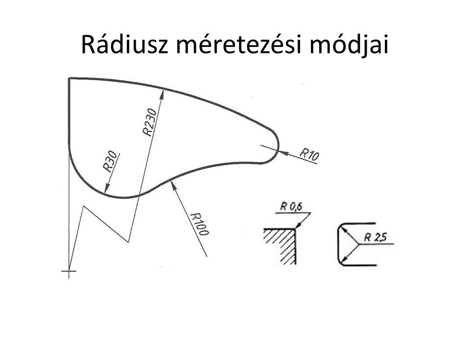 Rádiusz méretezési módjai