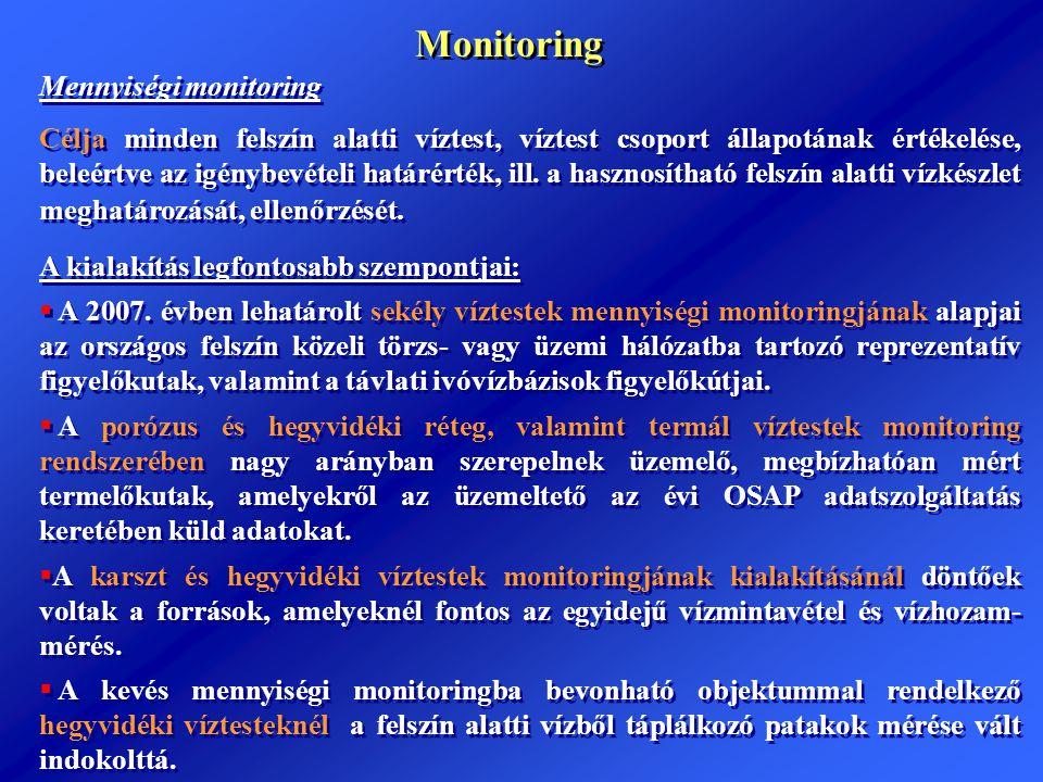 Monitoring Mennyiségi monitoring