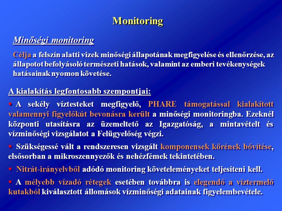 Monitoring Minőségi monitoring A kialakítás legfontosabb szempontjai: