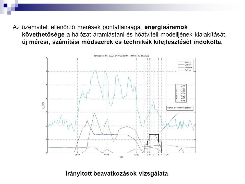 Az üzemvitelt ellenőrző mérések pontatlansága, energiaáramok követhetősége a hálózat áramlástani és hőátviteli modelljének kialakítását, új mérési, számítási módszerek és technikák kifejlesztését indokolta.