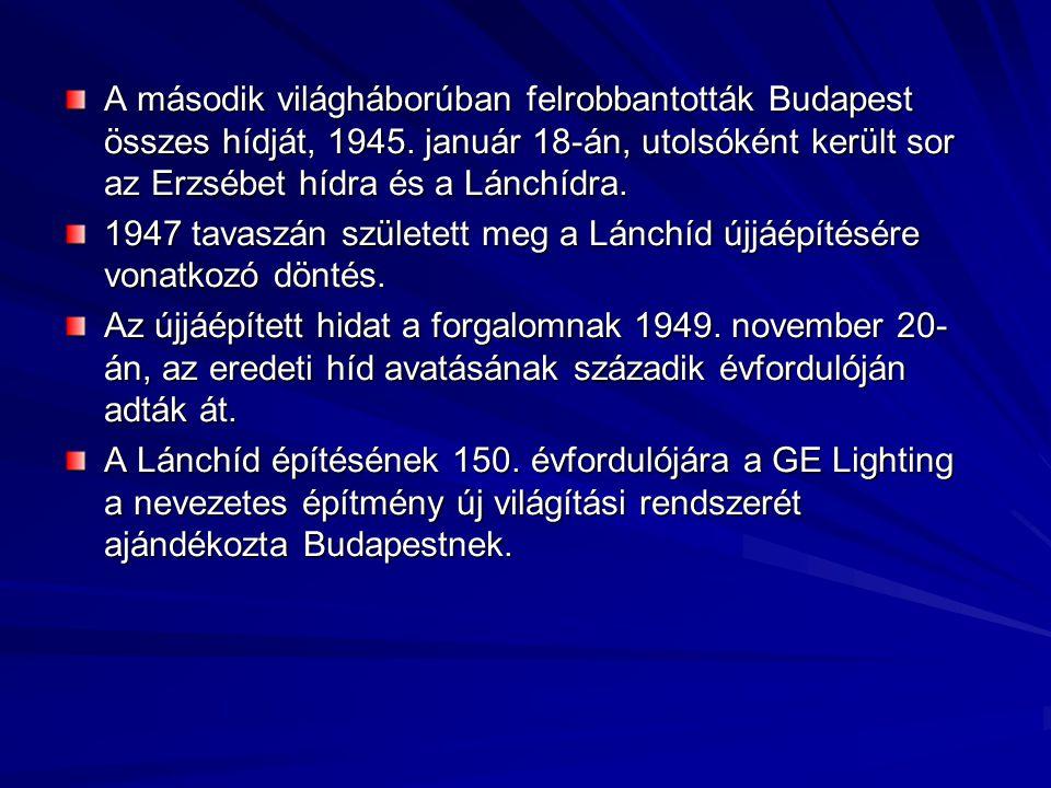A második világháborúban felrobbantották Budapest összes hídját, 1945
