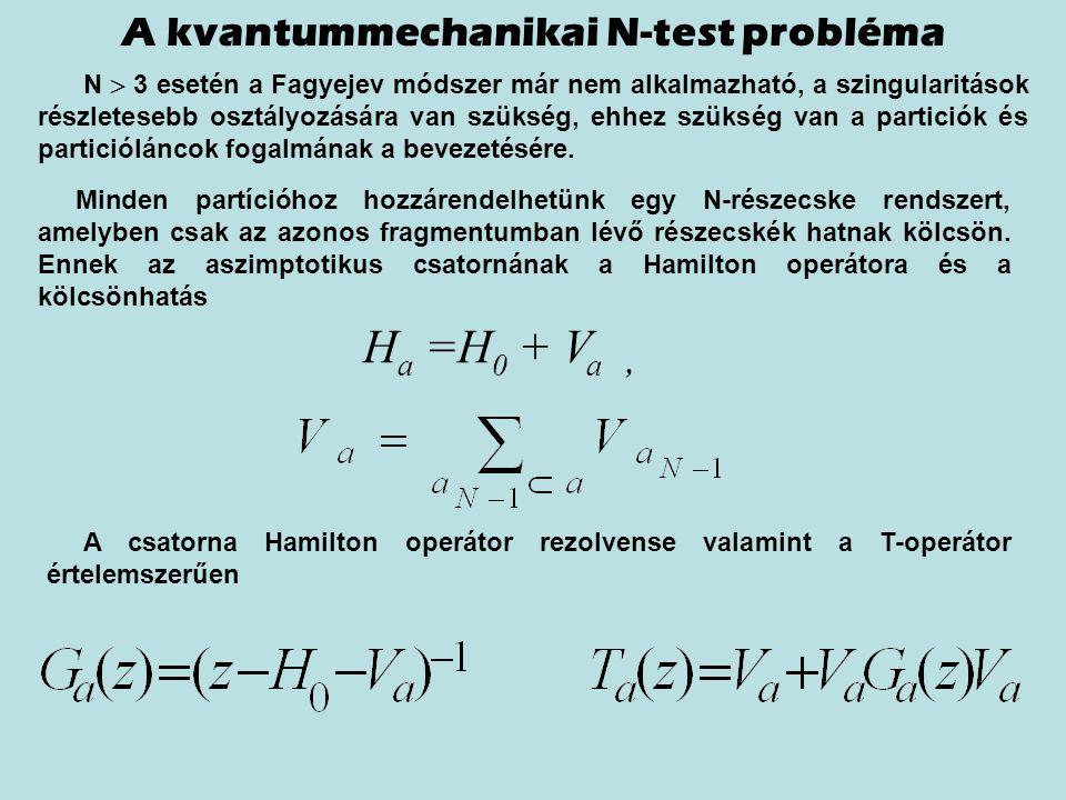 A kvantummechanikai N-test probléma