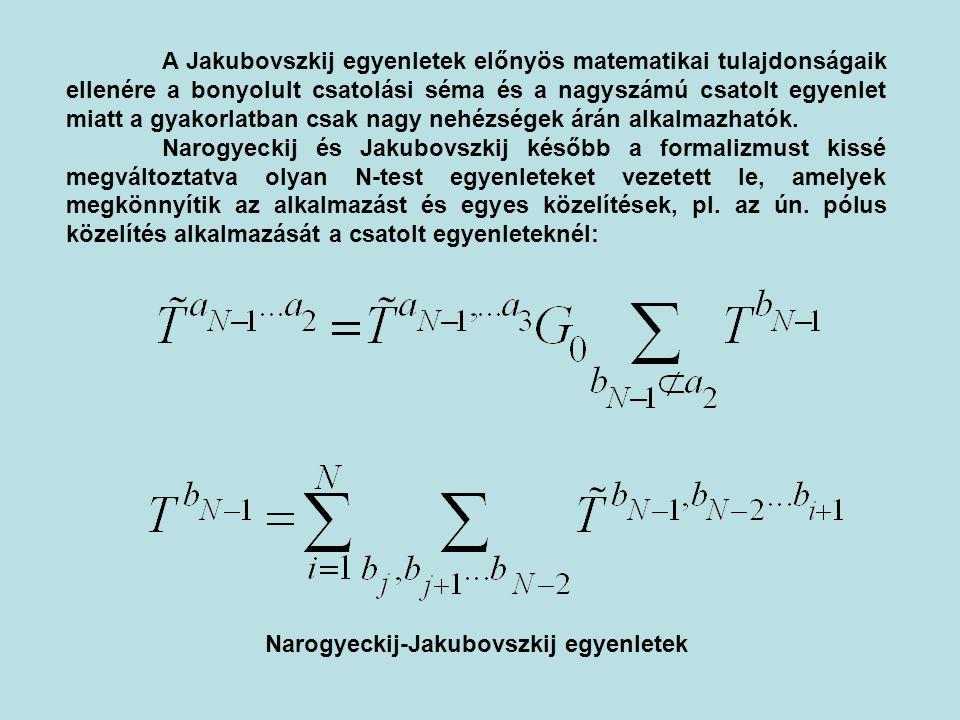 Narogyeckij-Jakubovszkij egyenletek