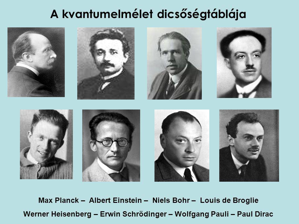 A kvantumelmélet dicsőségtáblája