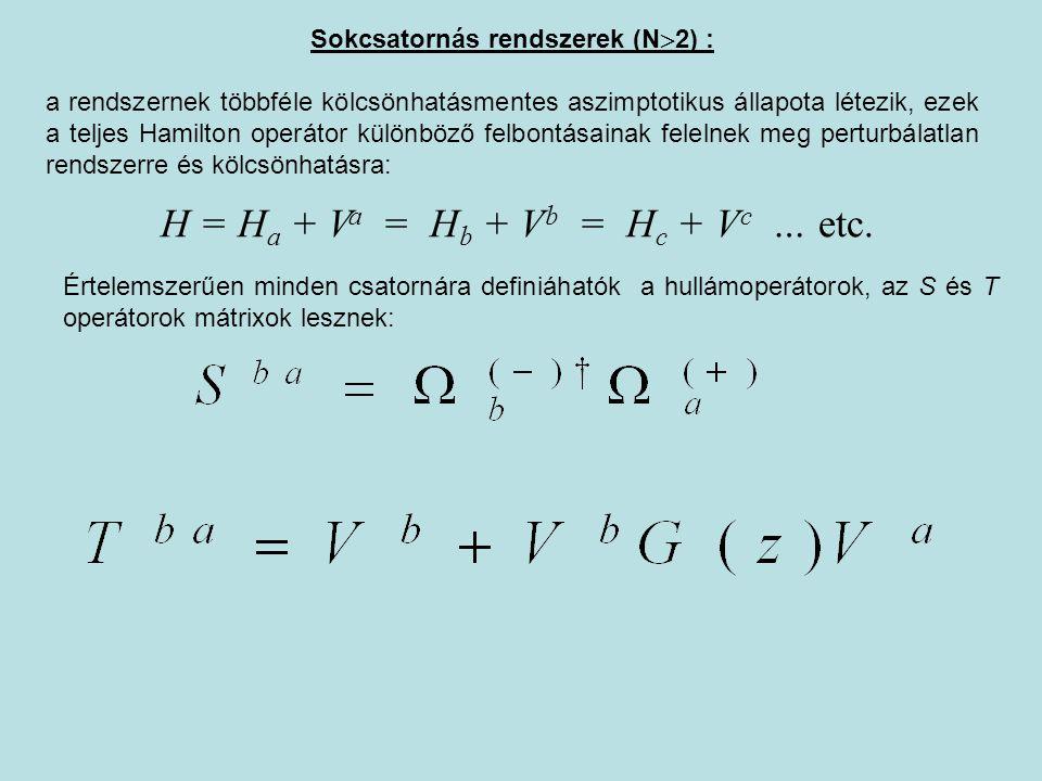 Sokcsatornás rendszerek (N2) :